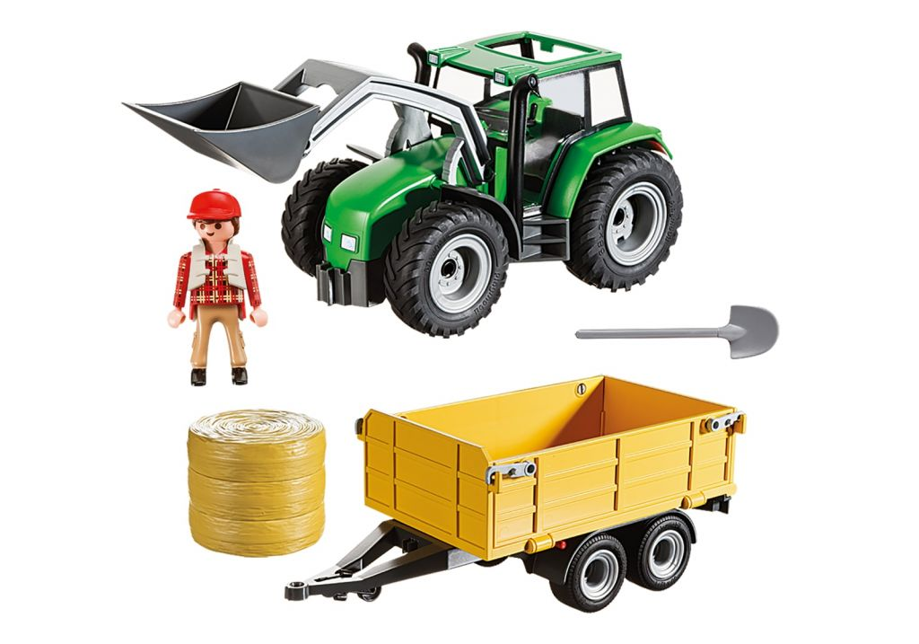 Playmobil 9317-usa - Tractor with Trailer - Back
