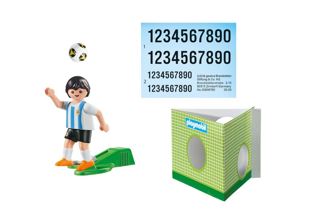 Playmobil 9508 - Soccer Player Argentina - Back