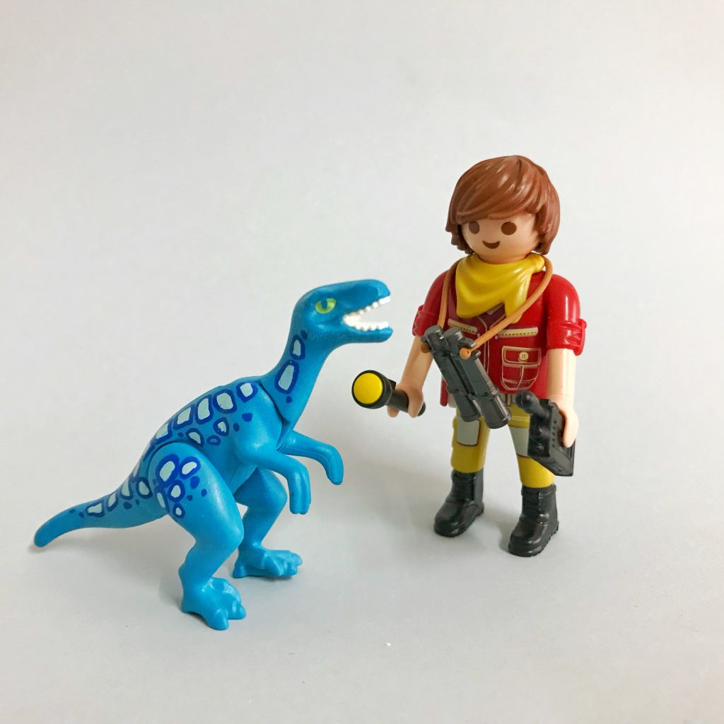 Playmobil 2018-02NUR - Explorer with dinosaur breeding - Back