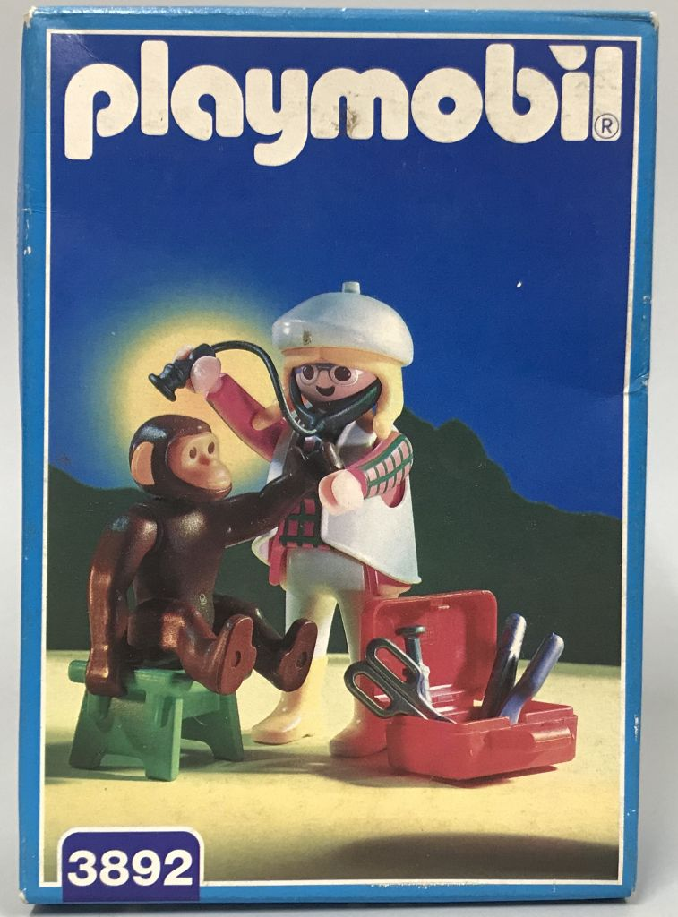 Playmobil 3892 - Vet & Chimpanzee - Box