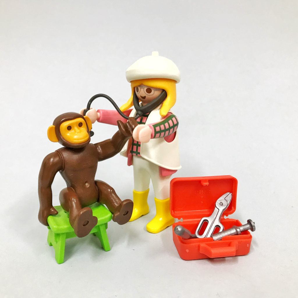 Playmobil 3892 - Vet & Chimpanzee - Back