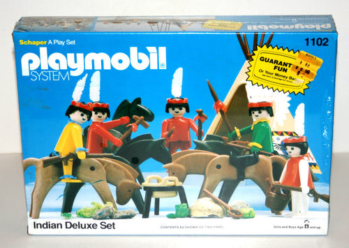Playmobil 1102v2-sch - Indian Deluxe Set - Box
