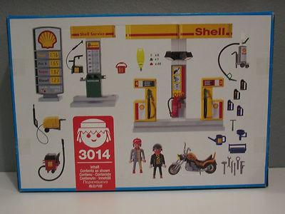 Playmobil 3014 - Gas Station - Back