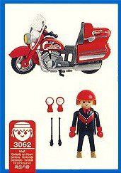 Playmobil 3062 - Highway Motorcycle - Back