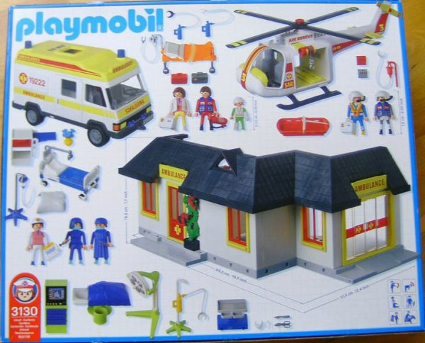 Playmobil 3130s3 - Ambulance Medical Center - Back
