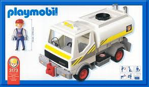 Playmobil 3173 - Fuel Tanker - Back