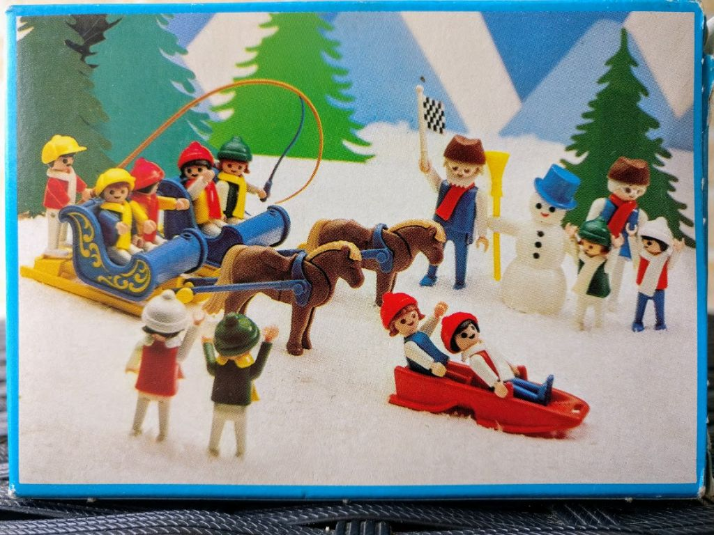 Playmobil 3327s1 - Children With Sled - Back