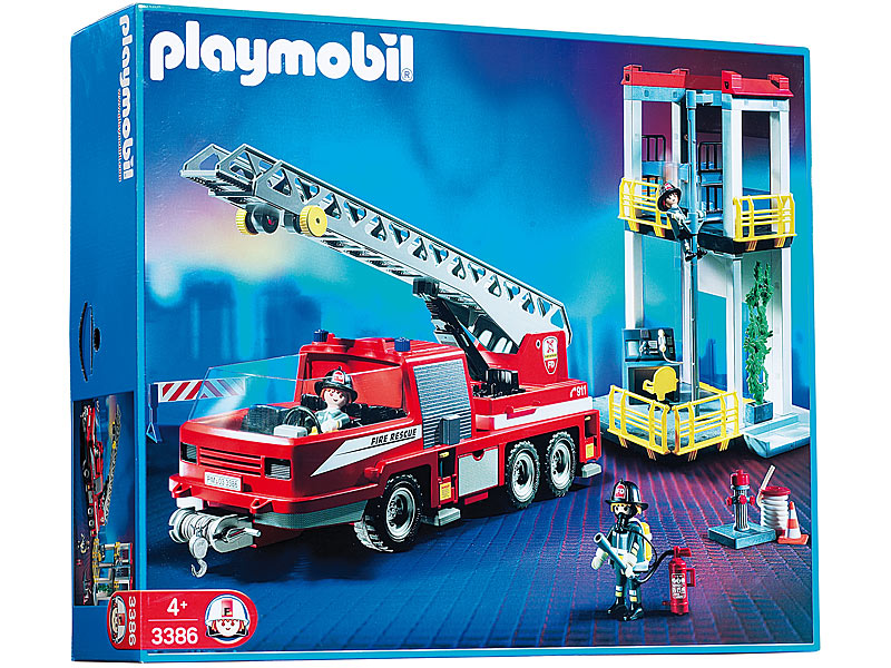 Playmobil 3386s2 - Fire Tower and Truck - Box