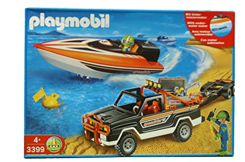 Playmobil 3399 - Jeep with Offshore Raceboat - Box