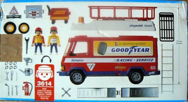 Playmobil 3614 - Racing Service Truck - Back