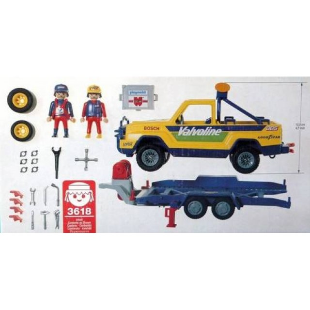 Playmobil 3618 - Off-Road Service Vehicle - Back