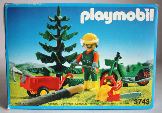 Playmobil 3743 - Lumberjack - Box