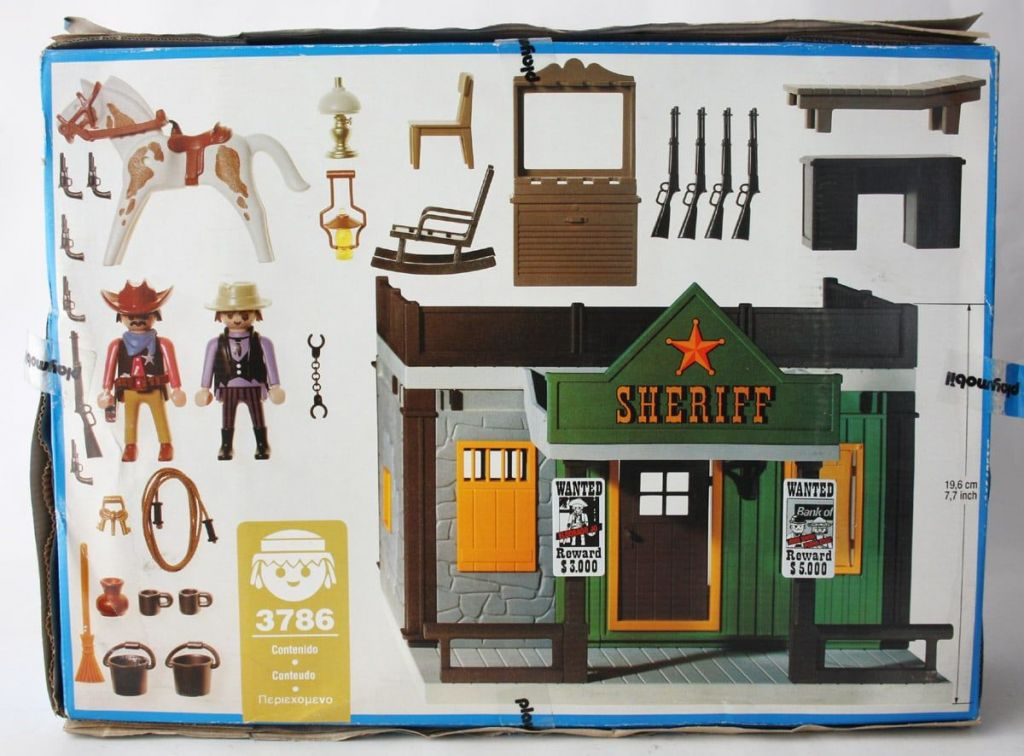 Playmobil 3786 - Sheriff's Office - Back