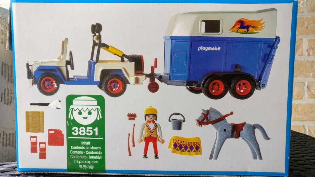 Playmobil 3851-usa - Jeep with horse trailer - Back