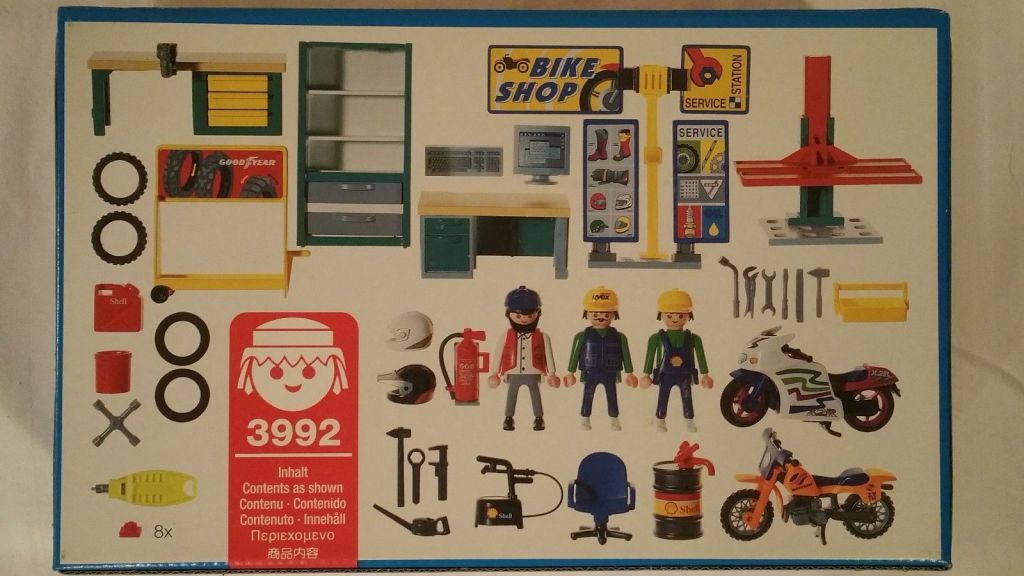 Playmobil 3992 - Bike Shop - Back