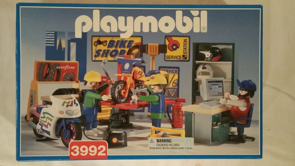Playmobil 3992 - Bike Shop - Box