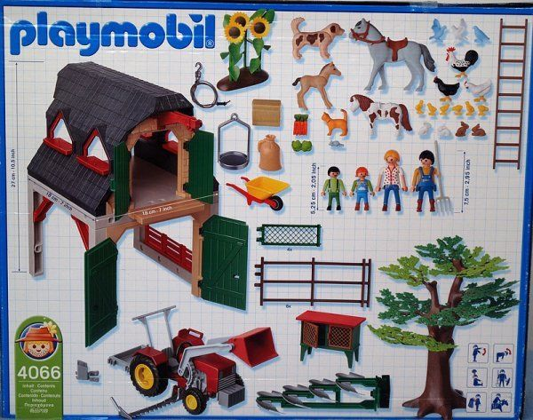 Playmobil 4066-ger - Farm - Back