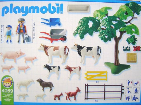 Playmobil 4069-ger - Grazing Animals - Back