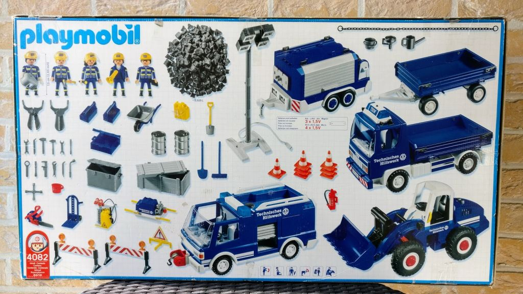 Playmobil 4082 - THW Mega Set - Back