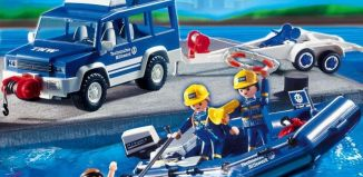 Playmobil - 4087-ger - THW Boot-Transport