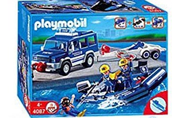 Playmobil 4087-ger - THW Offroader and Boat - Box