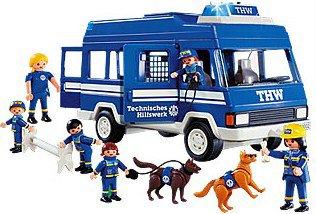 Playmobil 4088 - THW Bus - Back