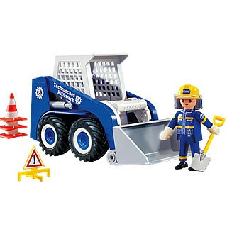 Playmobil 4089 - THW Bobcat - Back