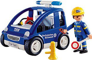 Playmobil 4090 - THW Car - Back