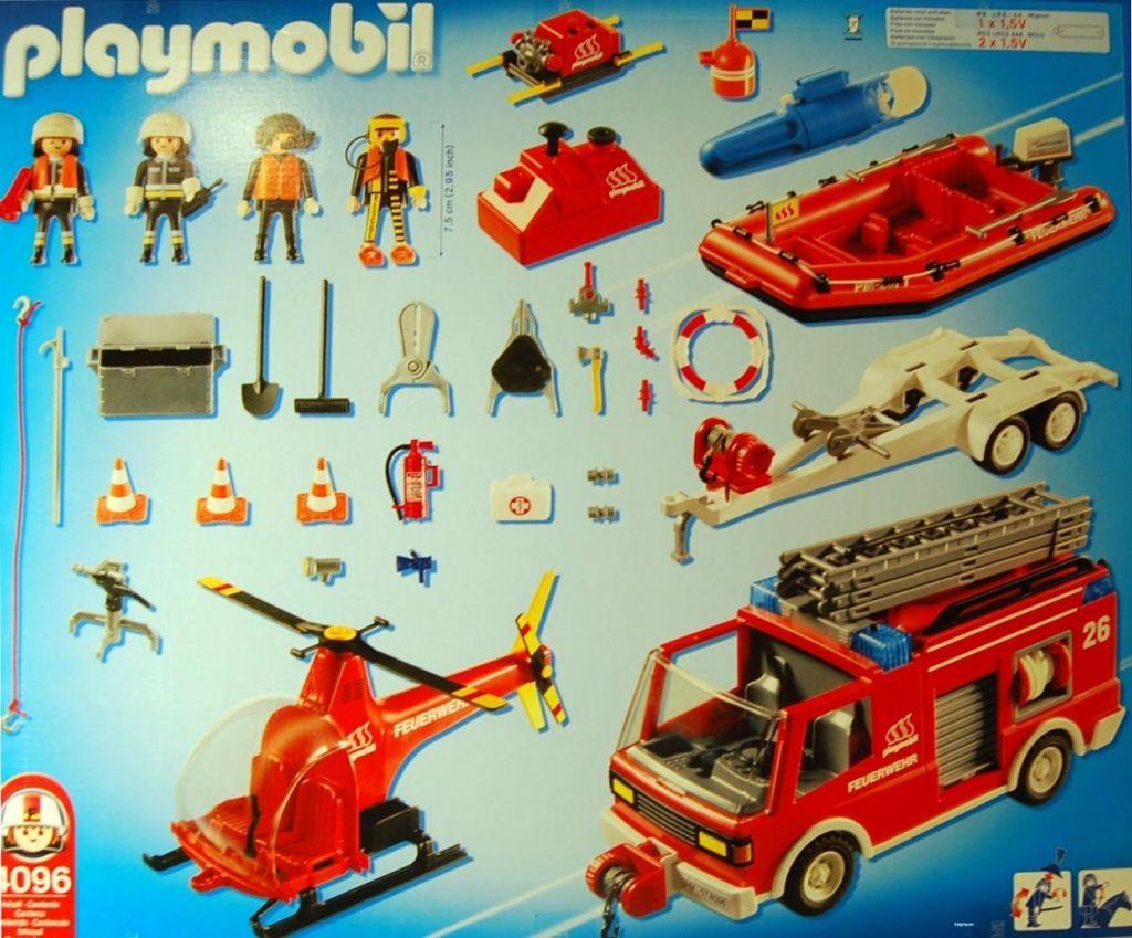 Playmobil 4096-ger - Mega Set Firemen - Back