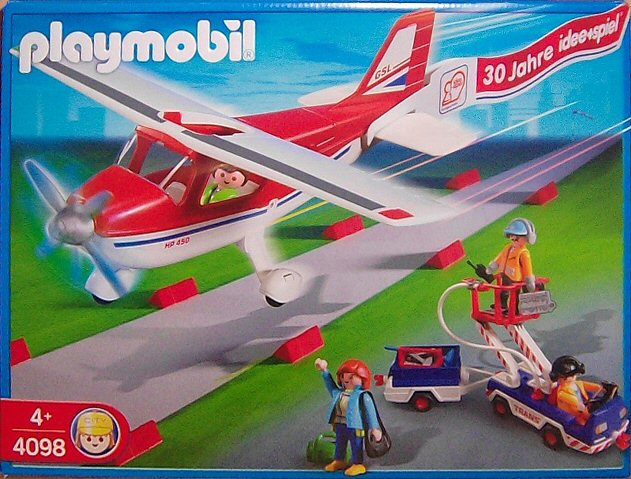 "Playmobil 4098 - Airplane 30 Years ""idee+spiel"" - Box"