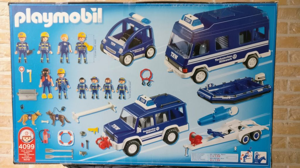 Playmobil 4099-ger - THW Combination Set - Back