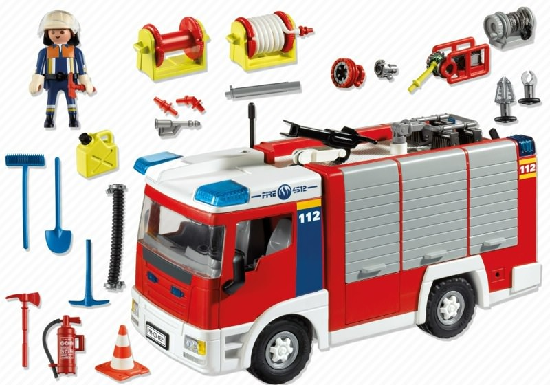 Playmobil 4821v1 - Fire engine - Back