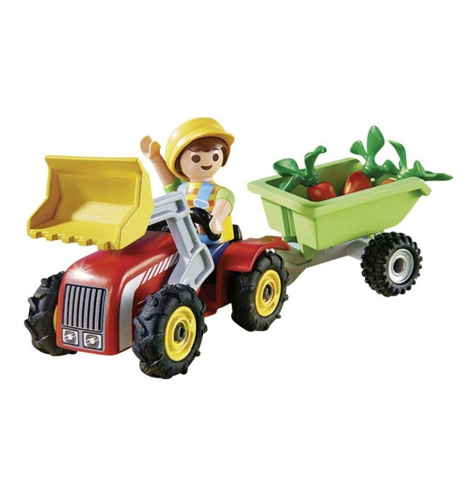 Playmobil 4943 - Boy with children's tractor - Back