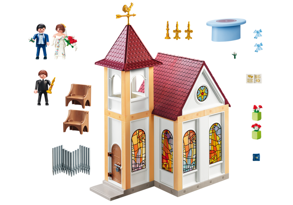 Playmobil 5053 - Romantic Wedding Church - Back