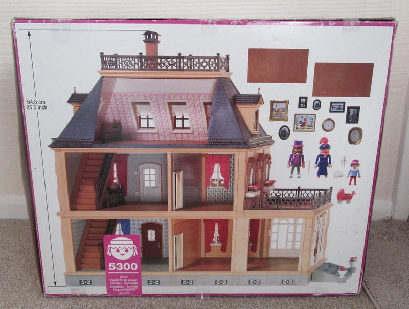 Playmobil 5300v3 - Large Victorian Dollhouse - Back