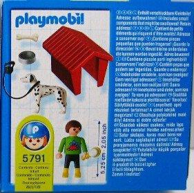 Playmobil 5791 - Boy with Dog - Back