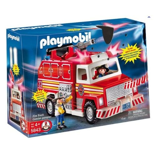 Playmobil 5843-usa - Fire Truck - Box