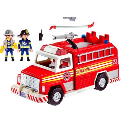 Playmobil 5843-usa - Fire Truck - Back
