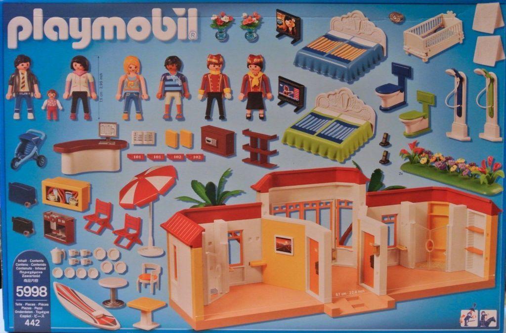 Playmobil 5998 - Tropical Playmobil Inn - Back