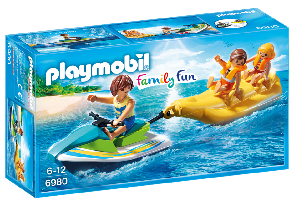 Playmobil 6980 - Watercraft with banana boating - Box