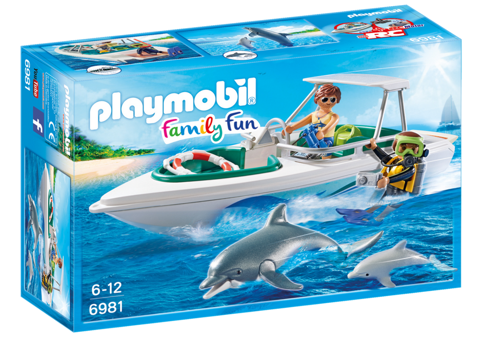 Playmobil 6981 - Diving trip with sportboot - Box