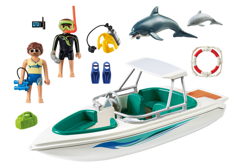 Playmobil 6981 - Diving trip with sportboot - Back