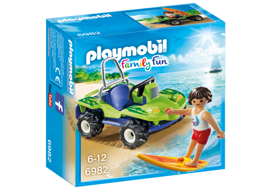 Playmobil 6982 - Surfer with beach buggy - Box