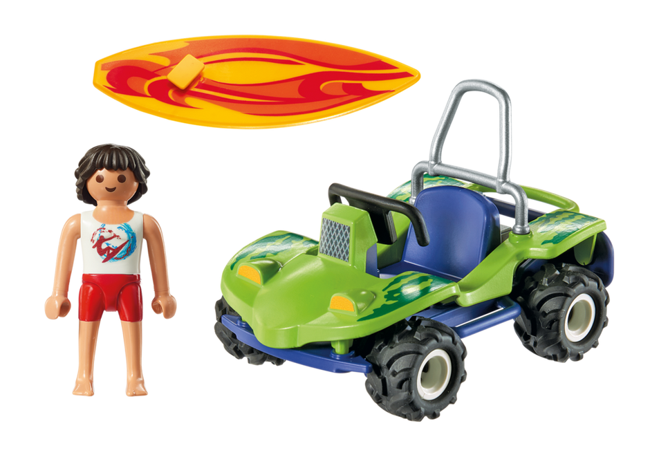 Playmobil 6982 - Surfer with beach buggy - Back