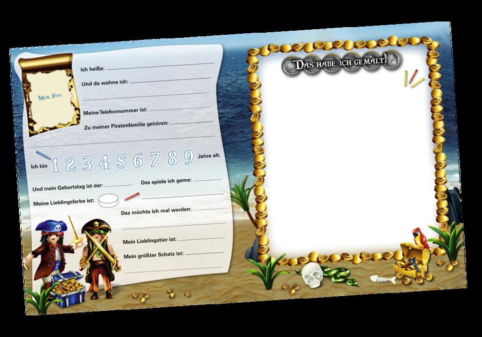 Playmobil 80378-ger - Freundealbum - Meine ersten Freunde (Pirates) - Back