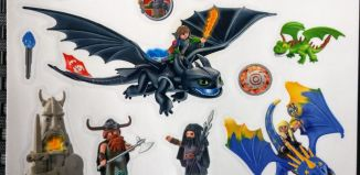 Playmobil - 86175 - Window Decal Dragons