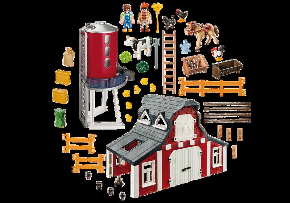 Playmobil 9315 - Barn with Silo - Back