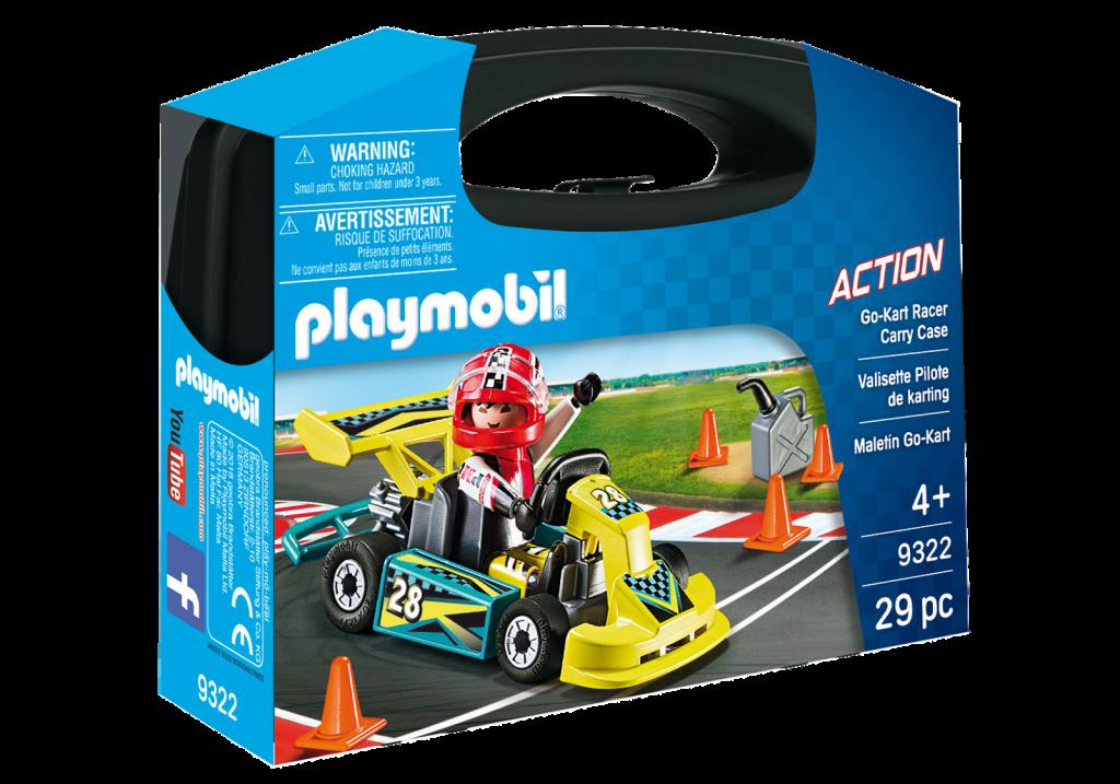 Playmobil 9322-usa - Go-Kart Racer Carry Case - Box