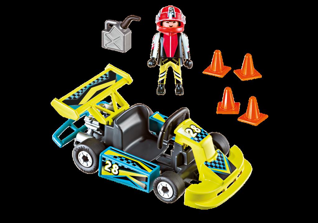 Playmobil 9322-usa - Go-Kart Racer Carry Case - Back