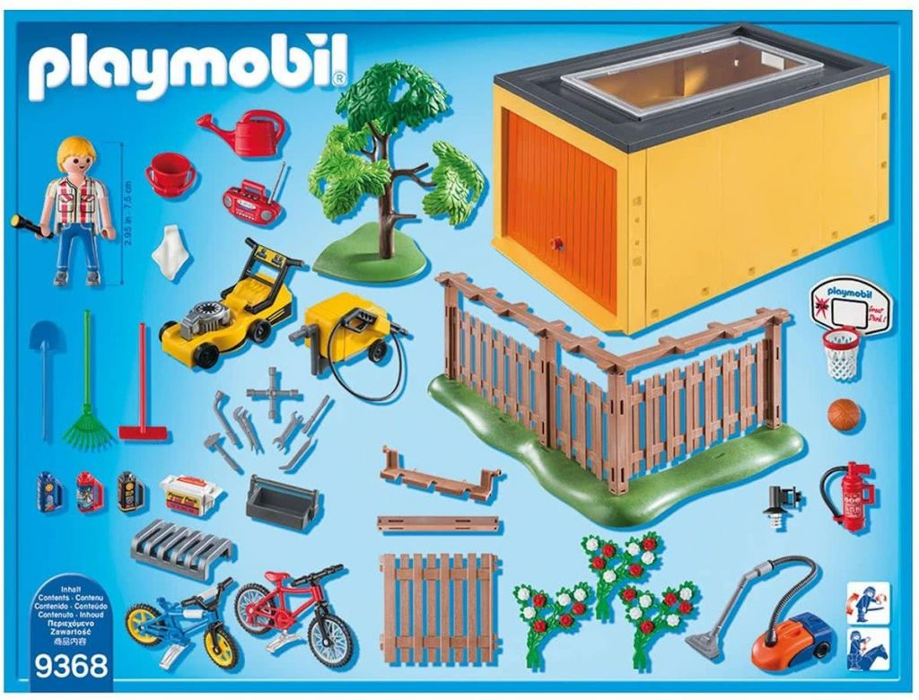 Playmobil 9368 - Garage with Bicycle Parking - Back